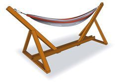 Build your own hammock stand   Plans to make a hammock stand   Hen and Hammock