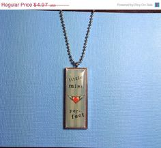 ON SALE little miss perfect Necklace by RoseyJohnny on Etsy, $4.72