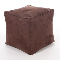 Faux Suede Cube Chocolate