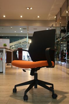 Vinotiu0027s Jet Black (with A Dash Of Color) Office Chair; ...
