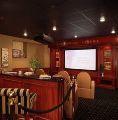 Best Home Theater, At Home Movie Theater, Home Theater Speakers, Home Theater Rooms, Home Theater Design, Home Theater Seating, Cinema Room, Library Design, Home Theater