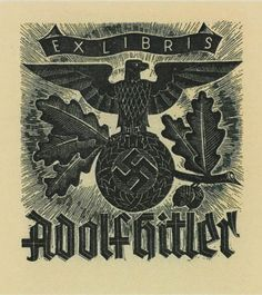 Ex Libris Adolf Hitler (created by Willi Knabe)