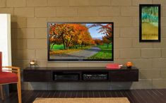 Laminated Design Led Tv Wall Hyd : ... Wall Mounted Tv Cabinet With Two Storage Also Modern Led Tv Design