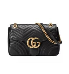 20d9390dcb77 #FORSALE Authentic Gucci GG Marmont Medium Matelasse Shoulder Bag Black -  $870 Handtaschen, Gesteppte