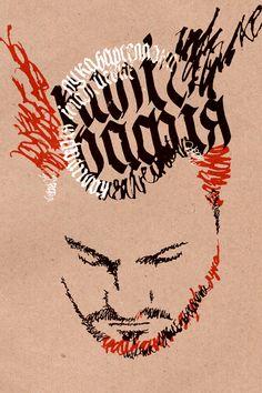 "Calligraphy poster ""Luca Barcellona"" :) by Lenka , via Behance"