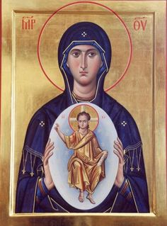 Day she found out she pregnant with the most precious gift of life Jesus Religious Images, Religious Icons, Religious Art, Byzantine Icons, Byzantine Art, Russian Icons, Religious Paintings, Best Icons, Holy Mary