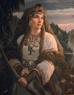 Девана ( древнеславянская Богиня охоты), автор Шишкин Андрей. Артклуб Gallerix