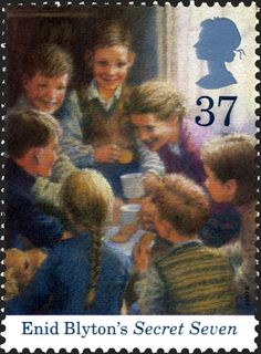 Marking the 100th anniversary of the birth of Enid Blyton Royal Mail Stamps, Uk Stamps, Royal Mail Postage, Love Stamps, Postage Stamps, Enid Blyton Books, Mail Art, Stamp Collecting, Book Worms
