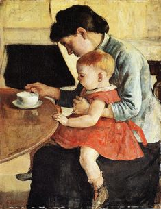 Mother and Child by Ferdinand Hodler