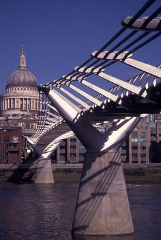 Millennium Bridge and St Paul's Cathedral, London, UK - Image from LondonTown.com