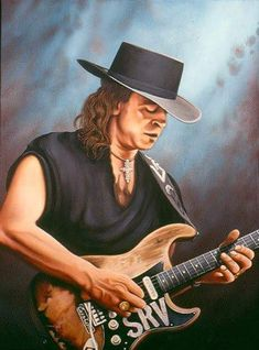 Stevie Ray Vaughan, Airbrush Art, Cool Guitar, Record Producer, Rock Music, Photo Library, Cartoon Characters, Rock N Roll, Blues