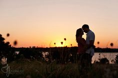 engagement pic idea at White Rock Lake