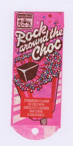 How many of these retro ice lollies did you use to love? Chocolate Sweets, Chocolate Flavors, Chocolate Bars, 1970s Childhood, My Childhood Memories, Vintage Advertisements, Vintage Ads, Sweet Wrappers, Retro Packaging
