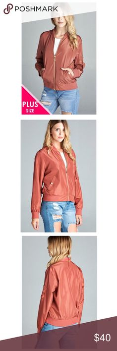 🎉now available 🎉 plus Size bomber jacket Ladies fashion plus size light weight bomber jacket-id. Jackets & Coats Blazers