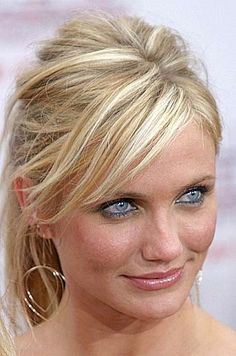 Cameron Diaz updo http://beautyeditor.ca/2013/07/04/is-your-hair-colour-too-dark-for-your-skin-tone-bill-angsts-advice-for-heather/