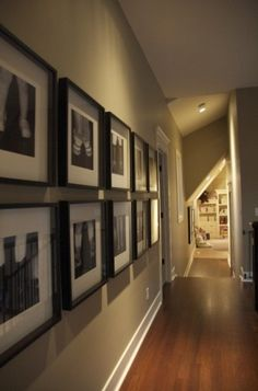 picture gallery in hallway