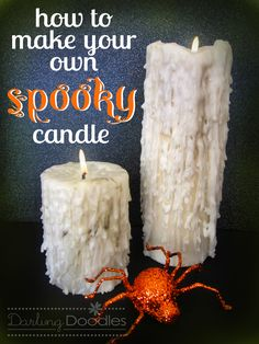 Make Your Own Spooky Candle- Darling Doodles