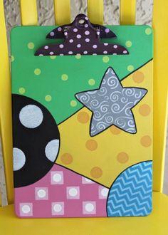 Colorful Clipboard for Teacher or Nurse by ColorsbySherri on Etsy, $25.00