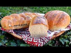 Paine pufoasa de casa, cu lapte (reteta video pas cu pas) - YouTube Sweet Bread, Hot Dog Buns, Bagel, Graham, Recipes, Pretzels, Healthy Food, Cooking Recipes, Brot