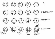 Visual Thinking, Critical Thinking, Thinking In Pictures, Web Design Inspiration, Design Ideas, Stick Figures, Facial Expressions, Cartography, Writing Tips