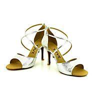 Sapatos+de+Dança(Preto+/+Azul+/+Vermelho+/+Prateado+/+Dourado)+-Feminino-Personalizável-Latina+/+Salsa+–+EUR+€+70.56