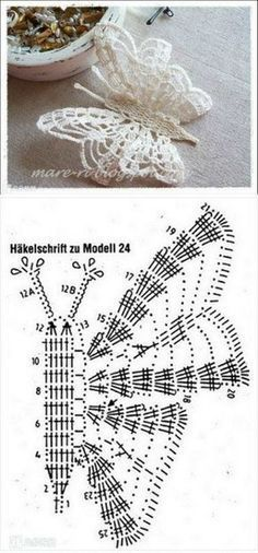 The best butterfly crochet pattern for your design Free Crochet Butterfly Patterns ⋆ Crochet Kingdom 77 With over 50 free crochet butterfly patterns to make you will never be bored again! Get your hooks out and let's crochet some butterflies! Filet Crochet, Crochet Diagram, Crochet Chart, Thread Crochet, Crochet Motif, Irish Crochet, Crochet Doilies, Crochet Flowers, Crochet Lace