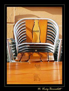 Chairs - Pécs, Hungary   Pécs, Jókai tér kora reggel...