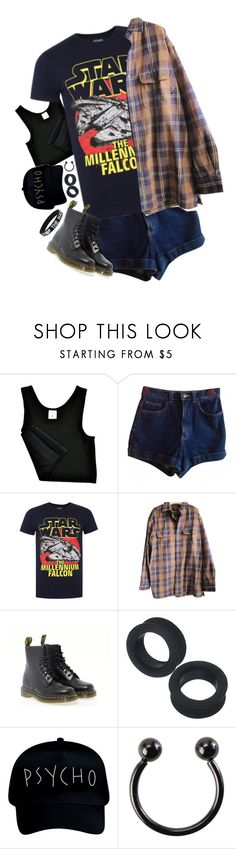 """""""sigh"""" by tokyo-fool ❤ liked on Polyvore featuring American Apparel, Falcon Enamelware, Timberland, Dr. Martens and Hot Topic"""
