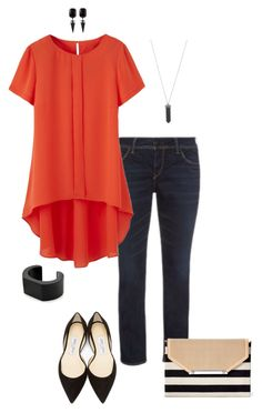 """""""Try something different- plus size"""" by gchamama ❤ liked on Polyvore featuring Jimmy Choo, Stella & Dot, NOVICA and Karen Kane"""
