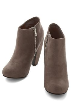 Taupe of Your Game Bootie | Mod Retro Vintage Boots | ModCloth.com