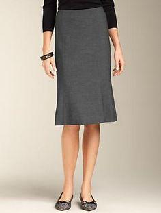 Talbots - Double-Weave Trumpet Skirt | | Apparel