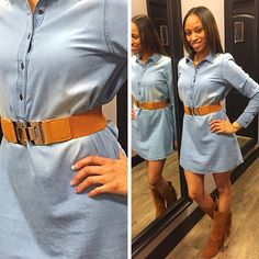 Shopping with Shea Smith and having fun with the #apricotlanesugusta girls. This #denimdress is so hot right now and even better on her.