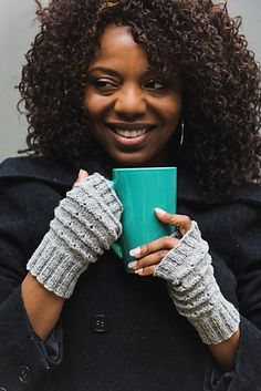 Ravelry: Silver Mist Fingerless Mitts pattern by Tian Connaughton