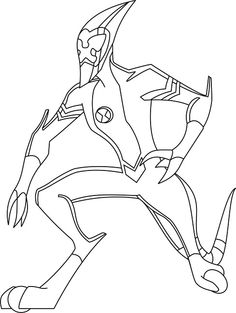 Ben 10 Coloring Pages Waybig