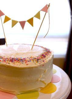 cake bunting | Cake bunting