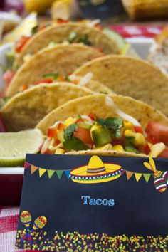 Amazing mexican food labels free printables #MexicanFiesta #Fiesta #FoodLabels