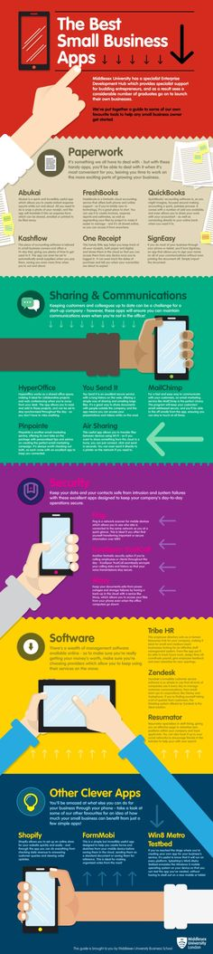 20 Best Apps for Small #Businesses | #Infographic #businessapps #apps