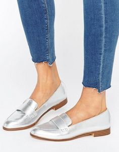 Pull&Bear Metallic Loafer