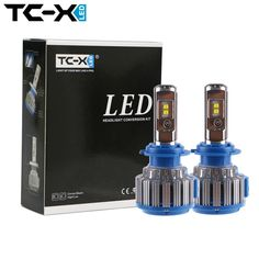 TC-X Guaranteed Car LED Headlights H7 H1 H3 H11/H8/H9 HB3/9005 HB4/9006 H27 880/881 7000LM Super Power Replacement LED Bulb Kit ** Find out more by clicking the VISIT button