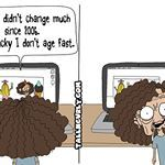 When you think you age slower than everybody else but you donttallncurlycomtallncurlycomics comicstrip humor tallncurly aging blackdontcrack