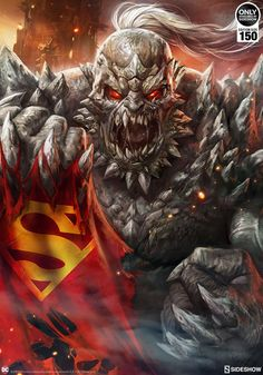 The Doomsday Fine Art Print is now available at Sideshow.com for fans of DC Comics, the Justice League, Dave Wilkins and Ian MacDonald.