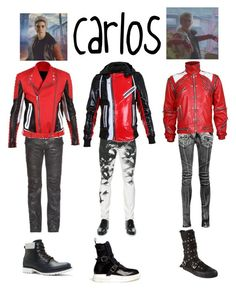 """Disney Descendants~Carlos Inspired"" by jmsmith462 on Polyvore featuring Balmain, Dsquared2, Demonia, Alexander McQueen and ALDO"