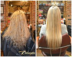 Check Out These Amazing Before and After Results on Our Brazilian Keratin Treatment By The Fantastic Delacqua Salon and Spa Team, Special Price - $150 (reg $250) all days of the week! Open 7 days a week 9AM-8PM Call Today 718-266-1233. We are located at 2027 86th St Brooklyn NY 11214 Brazilian Keratin, Natural Hair Care, Natural Hair Styles, Long Hair Styles, Hair Scissors, Keratin Hair, Hair Regimen, Professional Hairstyles