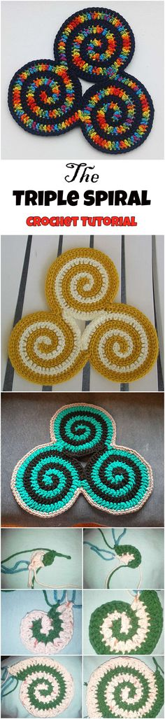 Triple Spiral Potholder