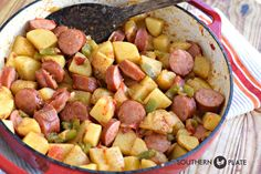 Simple & Delicious Kielbasa Skillet ~ http://www.southernplate.com
