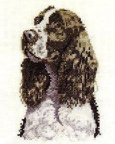 Cross stitch dog, DMC