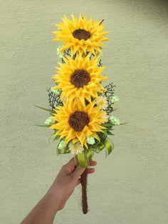 saténova kytica slnečnice Plants, Handmade, Hand Made, Plant, Planets, Handarbeit