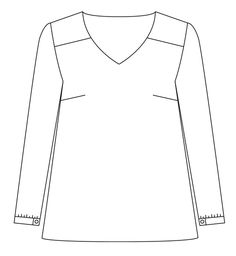 Atelier Scammit - Blouse our robe Be Pretty - patron PDF : Shirt Blouses, Tee Shirts, Tees, Sweet Shirt, Flat Sketches, Diy Wardrobe, Sewing Patterns, Boutique, Pretty