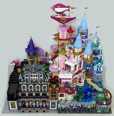 Lego Disney Princess, Princess Zelda, Hate Cats, Lego Boards, Lego Moc, Lego Lego, Cool Lego Creations, Lego Design, Cinderella Castle
