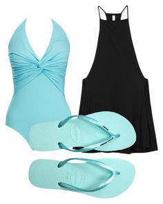 """Untitled #154"" by mburghardt on Polyvore featuring Melissa Odabash, RVCA and Havaianas"